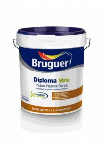 Pintura Plástica Blanca Diploma Mate  Marca Bruguer